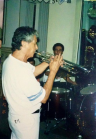 com o gde trumpetista Moisés Silva, gde mestre - Elber Bedaque