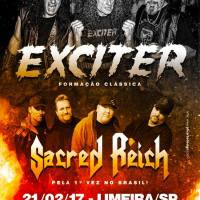 Exciter: Banda convida público para show em Limeira.
