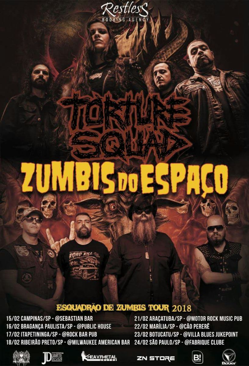 """Torture Squad: Ingressos e informações da """"Esquadrão de Zumbis"""" tour"""